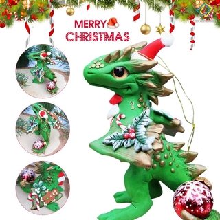 [FCD] Santa Baby Dragons Christmas Ornament With Lanyard Cute Christmas Dragons Toy For Home Decorative