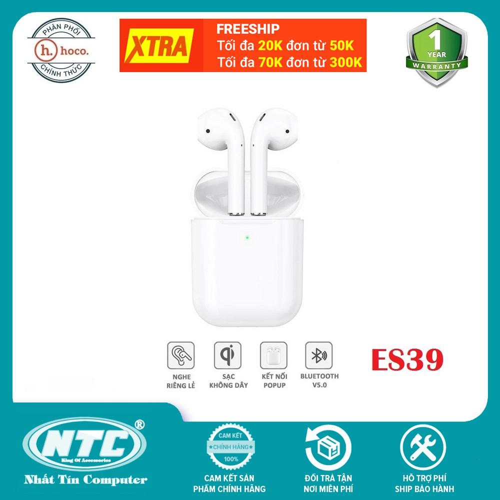 [Mã ELAPR20K giảm 20K đơn 20K] Tai nghe Bluetooth True Wireless Hoco ES39 Original series V5.0 (Trắng) - Hàng chính hãng