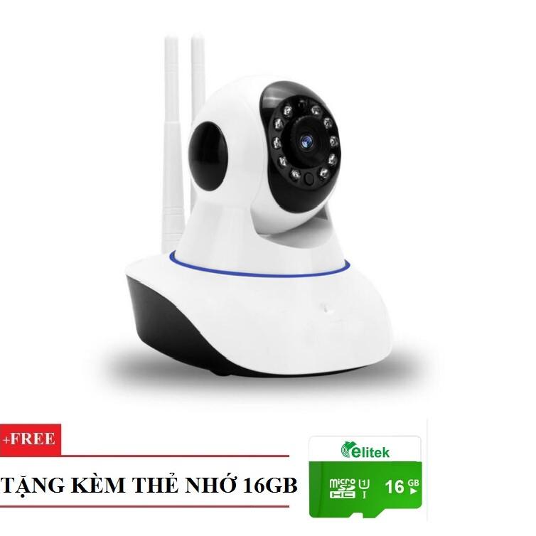 Camera Giám Sát Wifi Ăng Ten PK11 Full HD 1080P Tặng Kèm Thẻ 16GB
