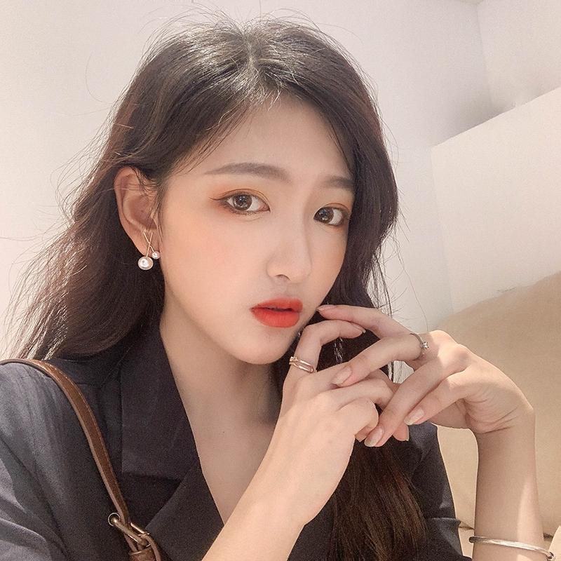 Khuyên Tai Đính Ngọc Trai Nhân Tạo Kiểu Hàn Quốc 2019