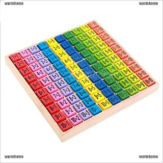 warmhome Children Wooden Toys 99 Multiplication Table Math Toy 10*10 Figure Blocks thro