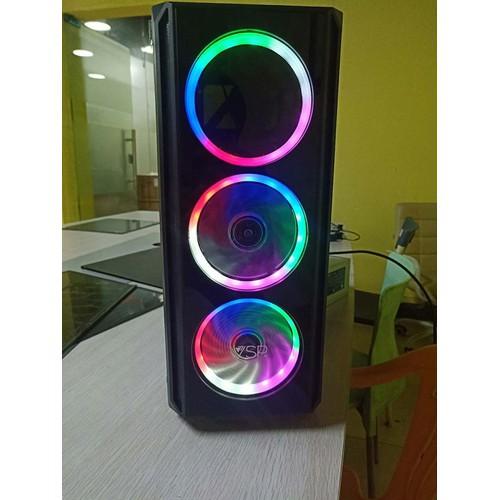 [Nhập ELCLMAY hoàn 30K xu đơn từ 200K][Siêu Rẽ]Case VSP V3 607 Gaming Trong Suốt mới full box Giá chỉ 401.000₫