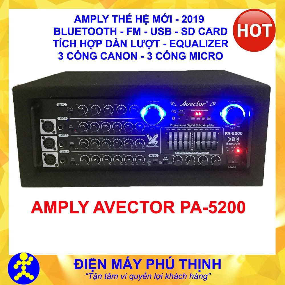 Amply karaoke bluetooth - amply sân khấu karaoke gia đình hát hay AVECTOR  BLUETOOTH hát cực chất