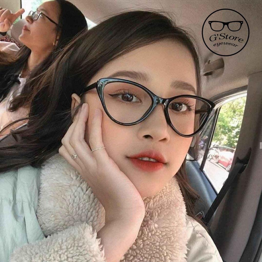Kính Gọng Cận Mắt Mèo Gọng Dẻo Hàn Quốc 2383 Gstore