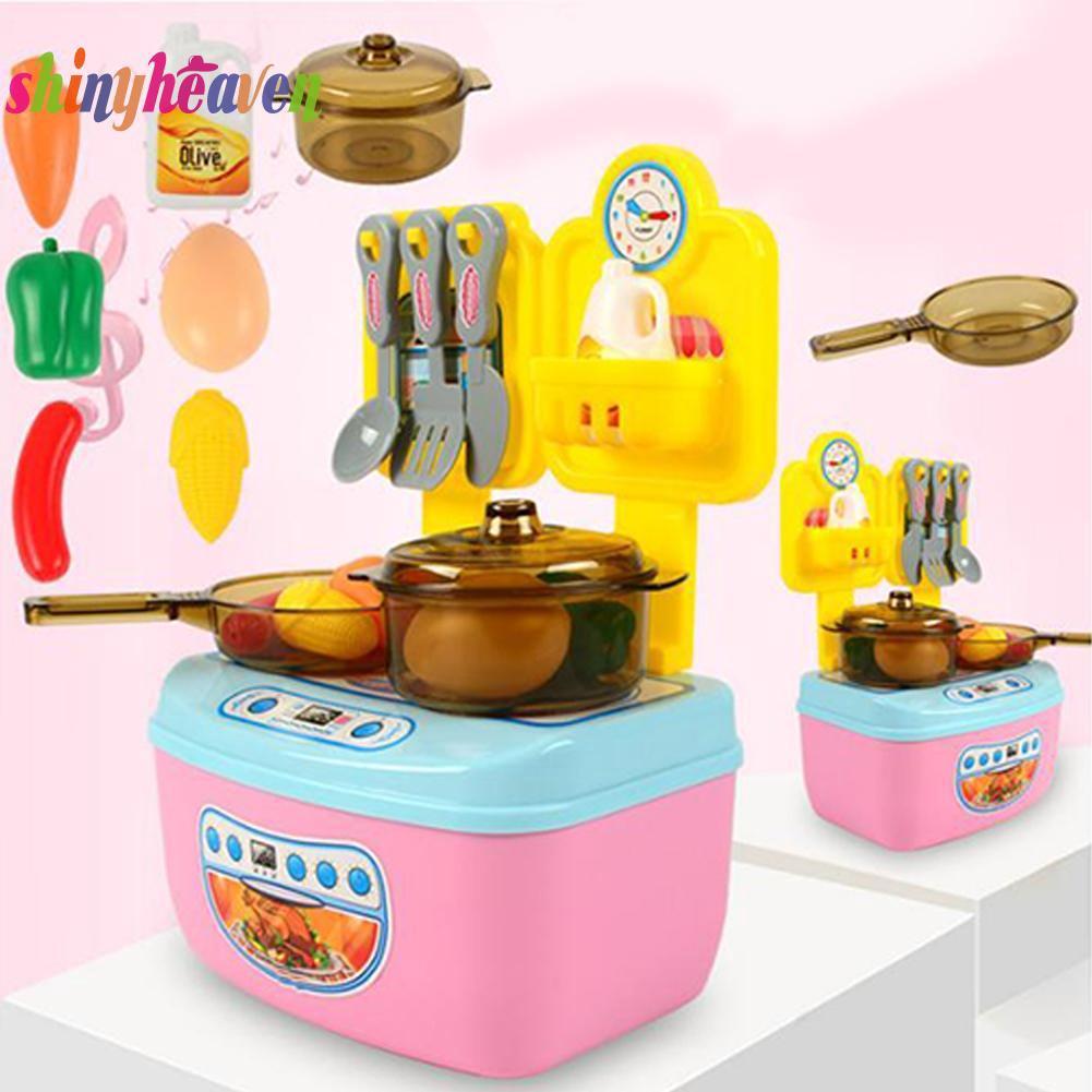 [SH]Plastic Kitchen Role Play Set Fashion Simulation Food Vegetables Kids Children Toys