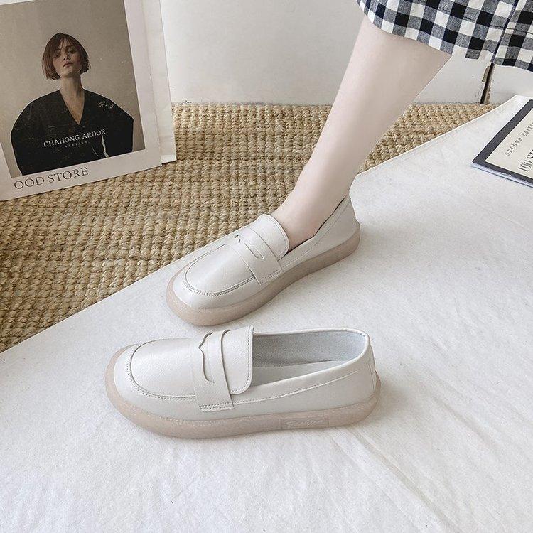 Giày Mũi Tròn Trơn Màu Xinh Xắn Dành Cho Nữ