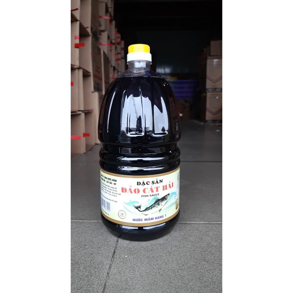 Nước mắm lương hải đặc sản Cát Hải 15 độ đạm (2lit)