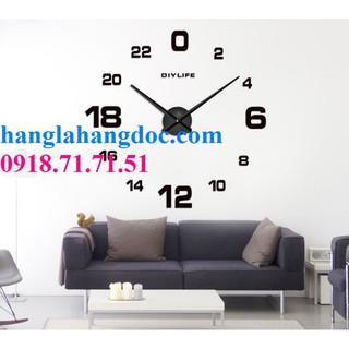 Đồng hồ dán tường DIY cỡ lớn độc đáo & cá tính
