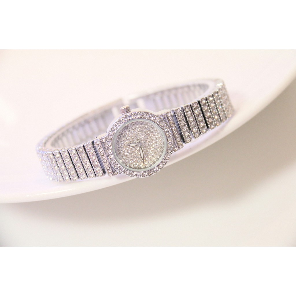 Đồng hồ Nữ BEE SISTER đính hạt dây và mặt FA1101