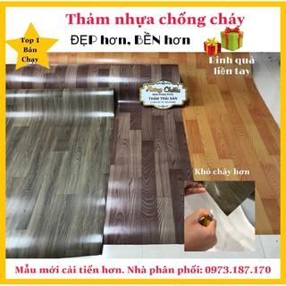 Thảm Thảm nhựa simili chống cháy I Thảm nhựa trải sàn nhập khẩu loại dầy 1mm