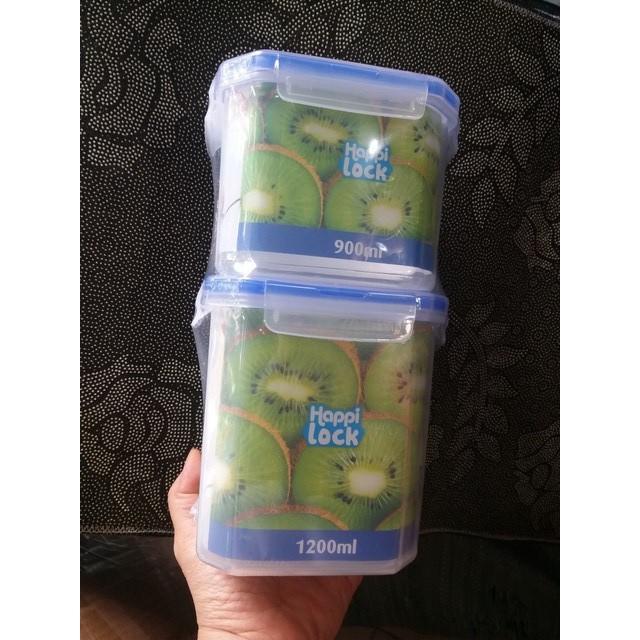 Combo 2 hộp đựng thực phẩm Happi lock