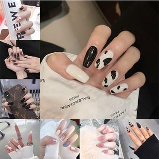 Set 24 móng tay giả thời trang dành cho nữ thumbnail