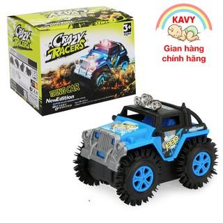 Đồ chơi ô tô xe Jeep chạy pin, nhựa nguyên sinh an toàn, chạy rất nhanh và khỏe (màu xanh) thumbnail