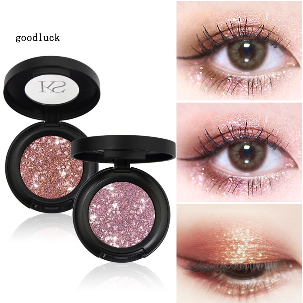 GLK_KIMUSE Waterproof Glitter Eyeshadow Powder Matte Pearlescent Non Smudge Makeup