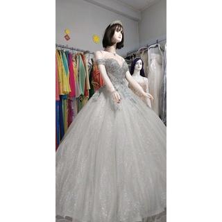 Váy cưới vy tính freesize tùng full Kim Tuyến đuôi lê thumbnail