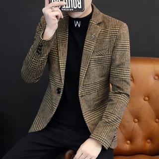 Vest nam | 01 – Áo vest dạ nhung nam Hàn Quốc Hot Trend 2021 kẻ caro chất vải cotton mềm 2 lớp dày dặn