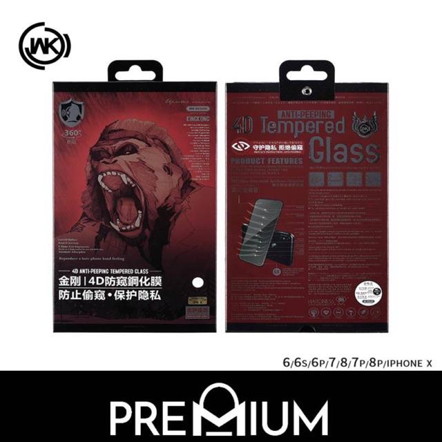 ?Dán cường lực chống nhìn trộm – Hàng Hãng Kingkong WK Design của HongKong Iphone 7 Plus 8 Plus Iphone X