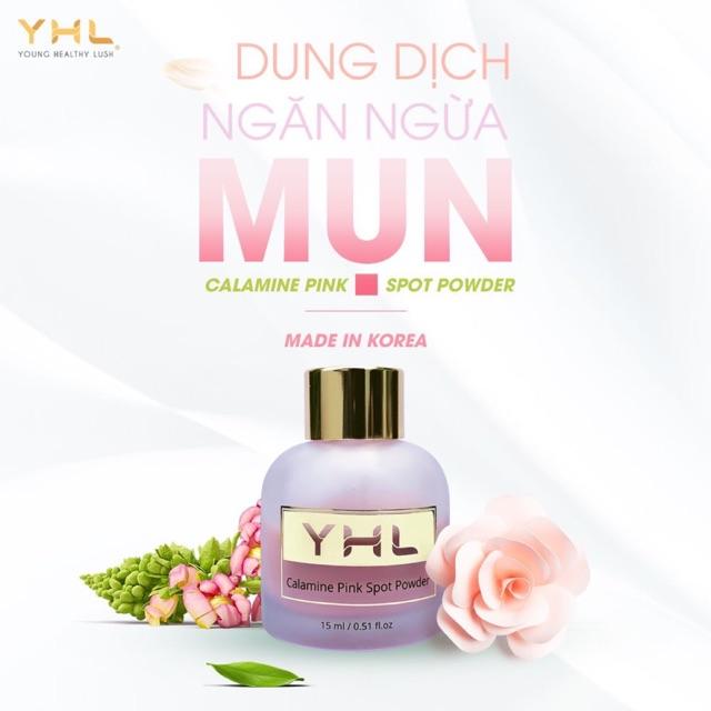 Mỹ Phẩm Hàn Quốc / Mỹ Phẩm Chính Hãng / Dung Dịch Chấm Mụn - YHL Calamine Pink Spot Powder 15ml