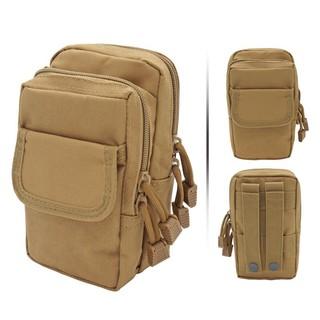 Túi đeo hông vải bố màu be siêu bền