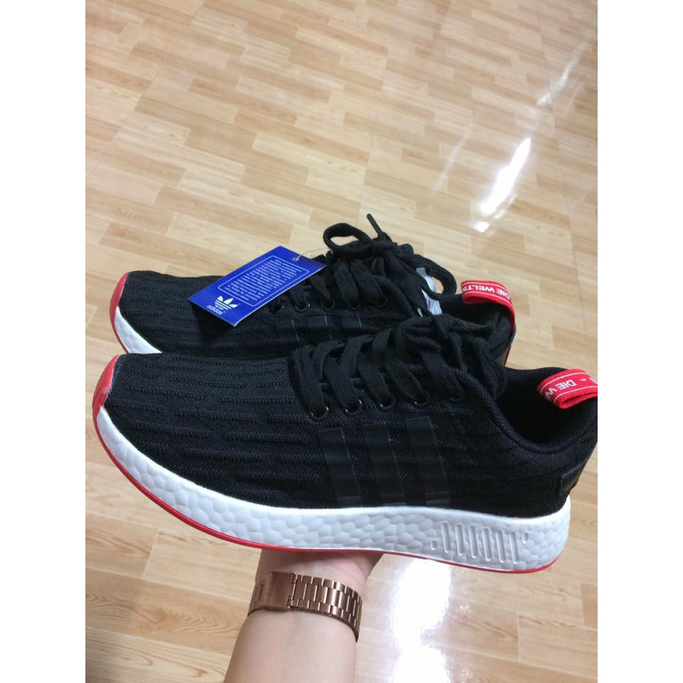 [SALE SỐC] Giày Adidas NMD R2 Đen Đỏ Nam Nữ