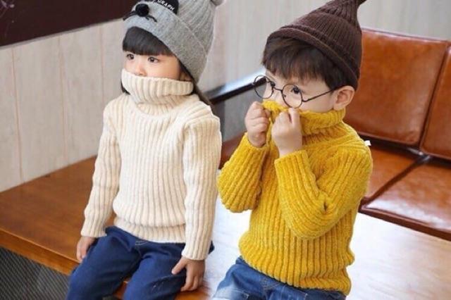 Áo len nhung tuyết cho bé trai/gái