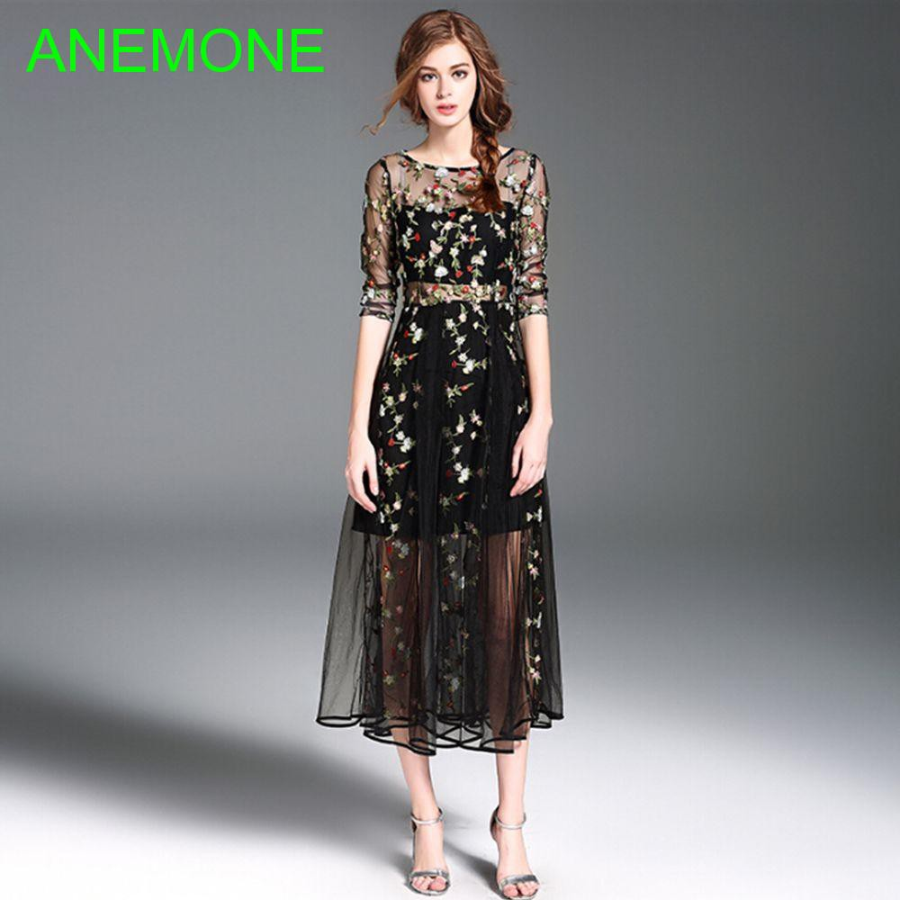 Lace Sexy Fashion Women Elegant Embroidery