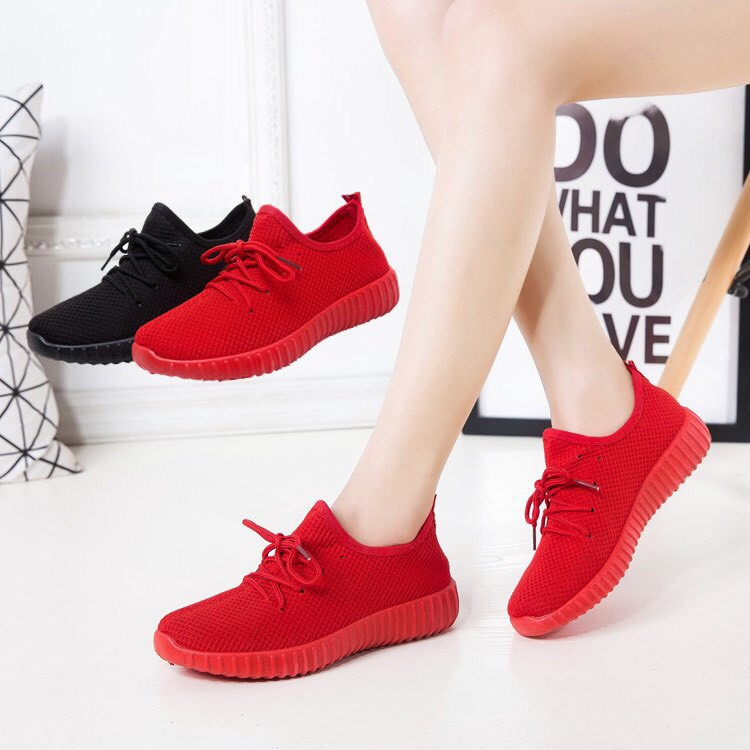 [SALE TRI ÂN ] Giày Nữ Đỏ Đen Sport (Loại 1)