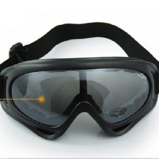 Kính thể thao ngoài trời Kính xe máy Kính trượt tuyết X400 - Đen