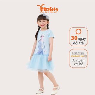 Đầm váy ngắn tay Elsa bé gái Rabity 5515.5382