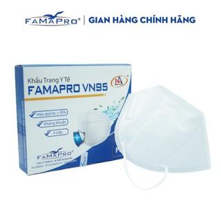 Khẩu trang y tế kháng khuẩn 4 lớp Famapro VN95 màu trắng (10 cái hộp ) thumbnail