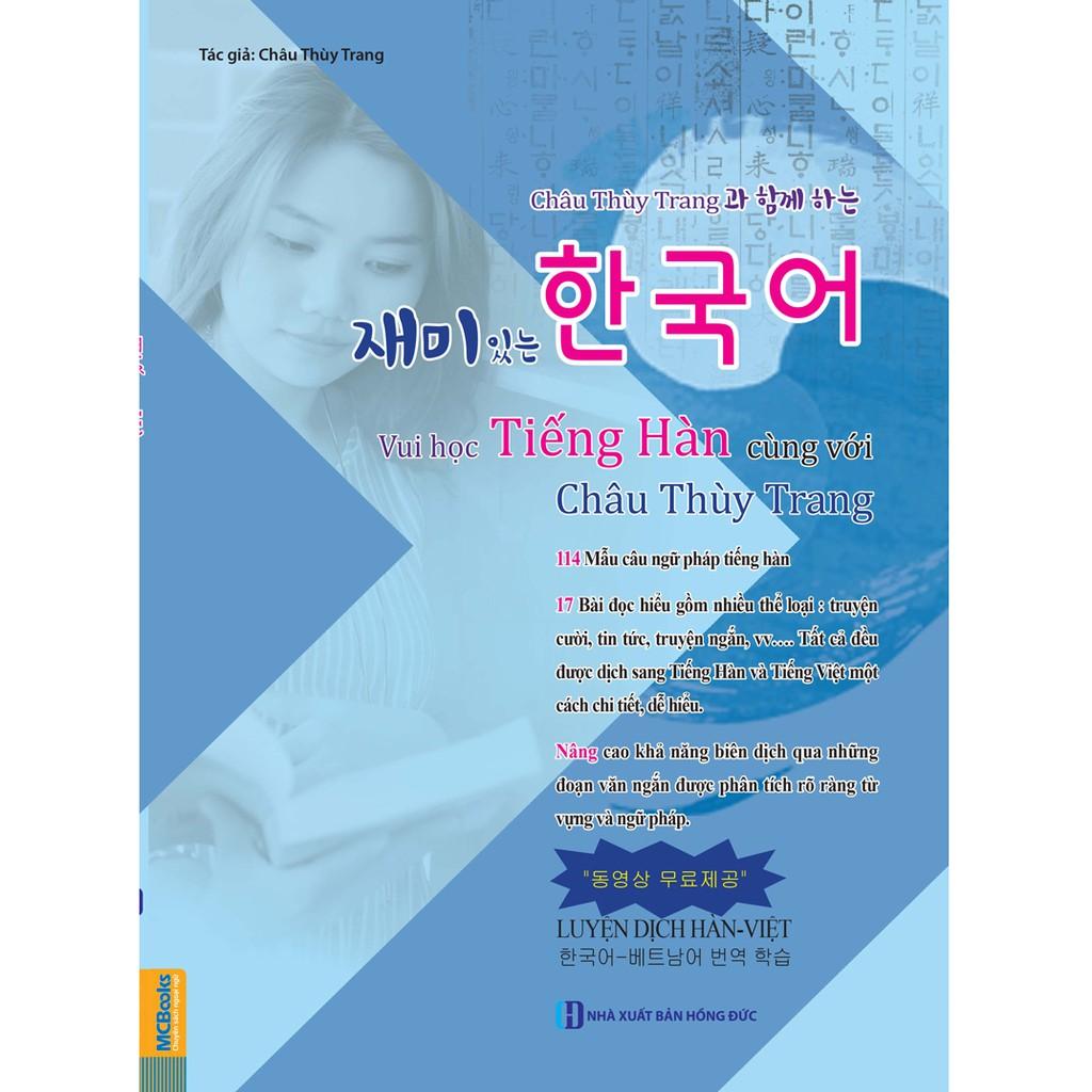 [ Sách ] Vui Học Tiếng Hàn Cùng Với Châu Thùy Trang