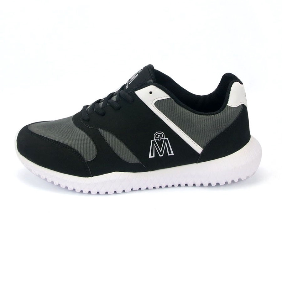 Giày thể thao nam MĐ G406 đen đế trắng