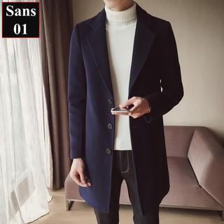 Áo Khoác Dạ Nam Hàn Quốc Dáng Dài Áo Măng Tô Nam Hàn Quốc Sans01 Sans Shop ️🏆