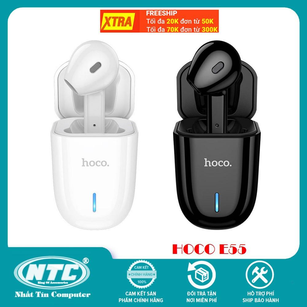 Tai nghe bluetooth Hoco E55 Flicker V5.0 kèm dock sạc, xoay đổi chiều tai - Hàng chính hãng