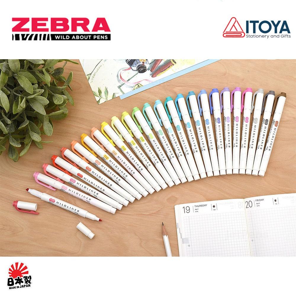 [Mã SKAMA07 giảm 8% tối đa 50K đơn 250K] Bút đánh dấu highlight Zebra Mildliner, set 5 bút (Japan)