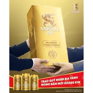 (Date:10/07/2021) Bia Sài Gòn Gold phiên bản Hoàng Kim (thùng 18 lon)