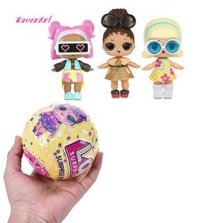 XA_Cute Ball Plastic LOL Surprise Doll Confetti Mini Cartoon Girl Pop Kids Gift Toy
