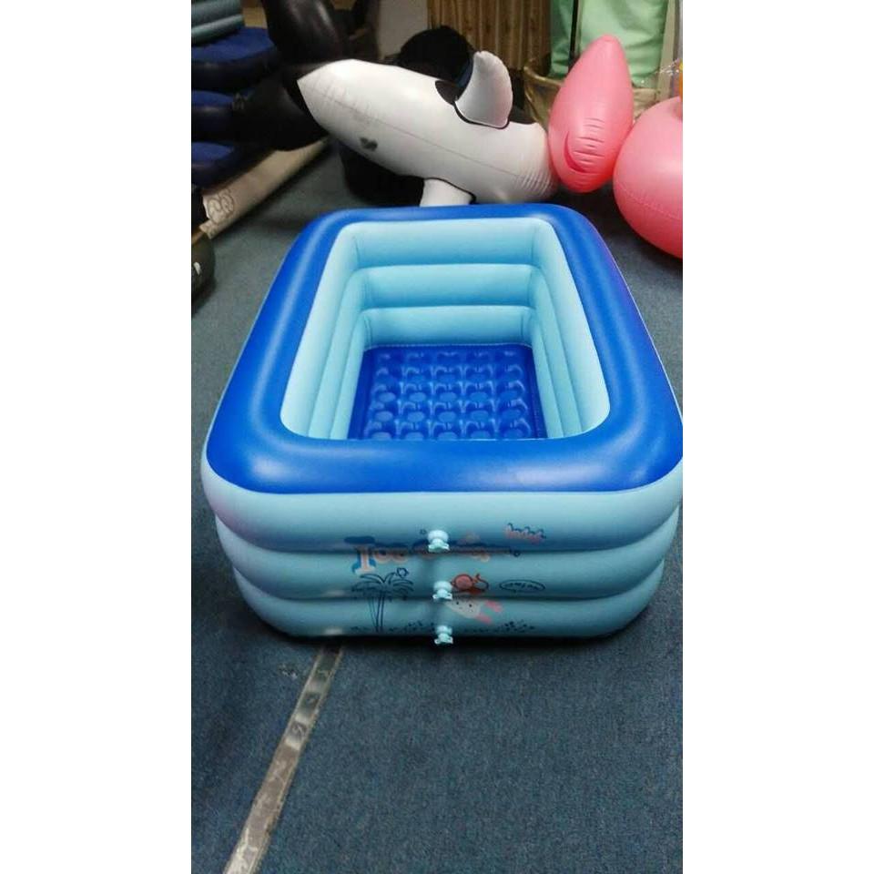 Bể bơi Yoyo 180*140*6CM 3 tầng tặng bơm điện 2 chiều
