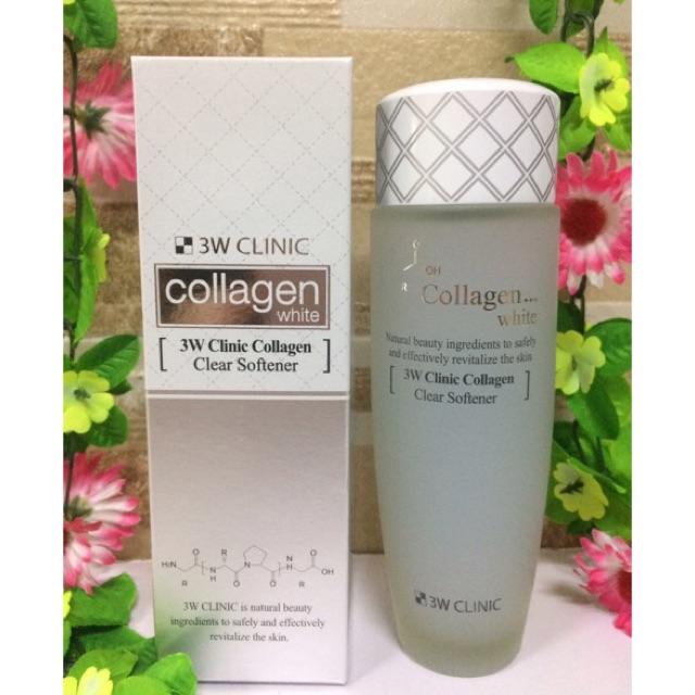 Nước hoa hồng trắng da 3W Clinic Collagen White 150ml | Shopee ...