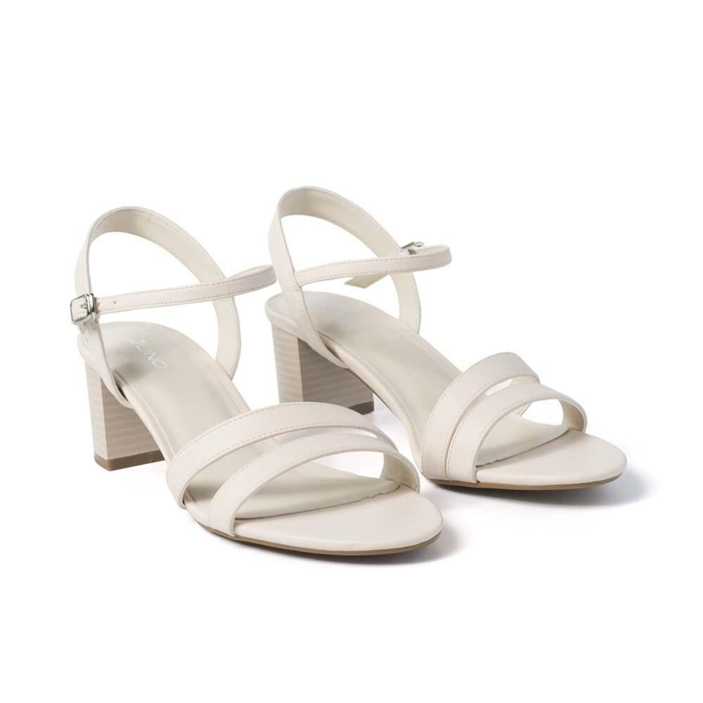 [Mã WABRFE2 giảm 15% tối đa 100K đơn từ 500K] JUNO - Giày sandal gót vuông quai mặt bất đối xứng SD05044