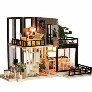 Kèm mica – Mô hình nhà gỗ búp bê dollhouse DIY – K033 September Forest
