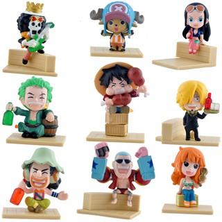 Ready Stock 9PCS One Piece Anime Luffy Sauron Sanji Choba Frank
