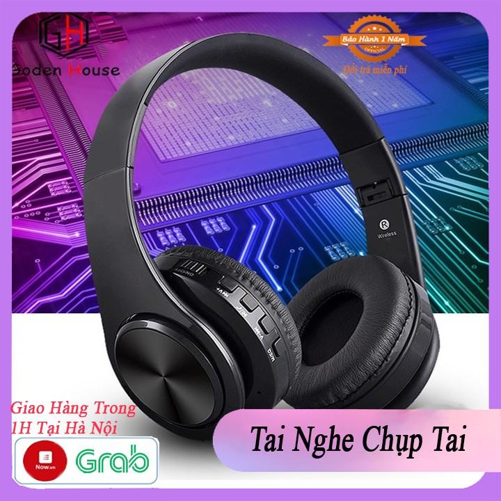 Tai nghe bluetooth chụp tai không dây GodenHouse cao cấp, headphone bluetooth có thể gập gọn tiện lợi.