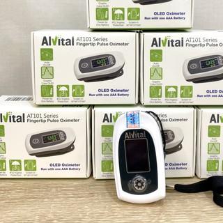 (BẢN MỚI) Máy đo nồng độ oxy trong máu Spo2 và nhịp tim - Alvital AT101C thumbnail