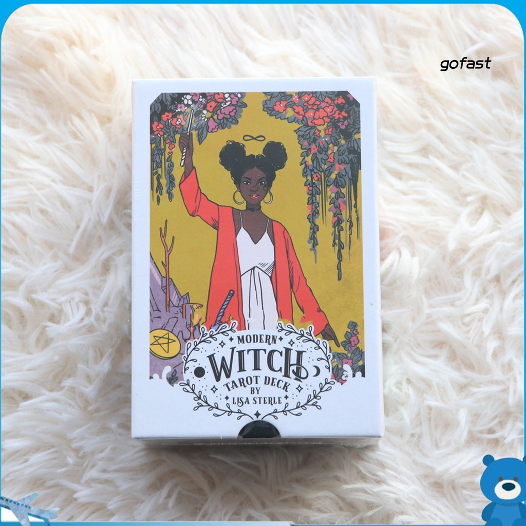 GO-78Pcs/Set Tarot Game Stylish Mysterious Art Paper English Tarot Cards Oracle for Daily Life
