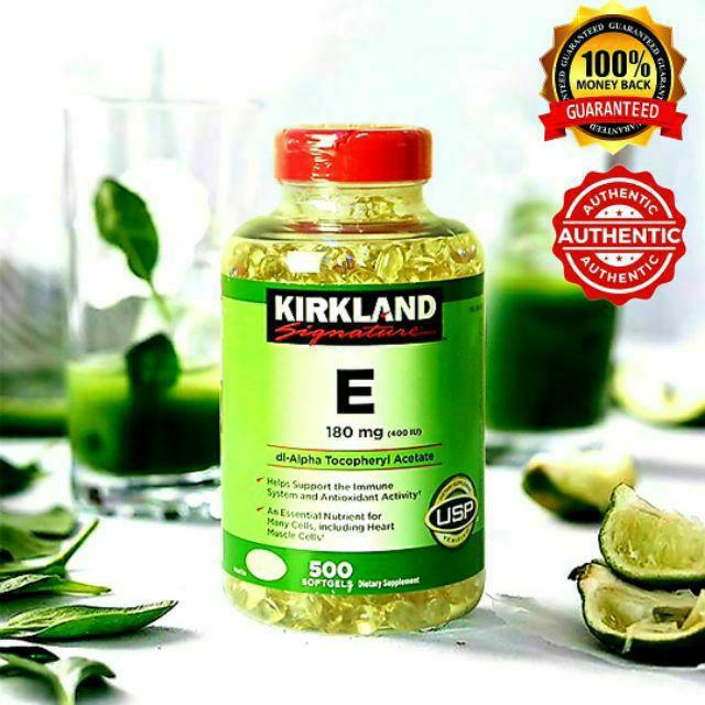 Vitamin E Kirkland Cam Kết Chính Hãng