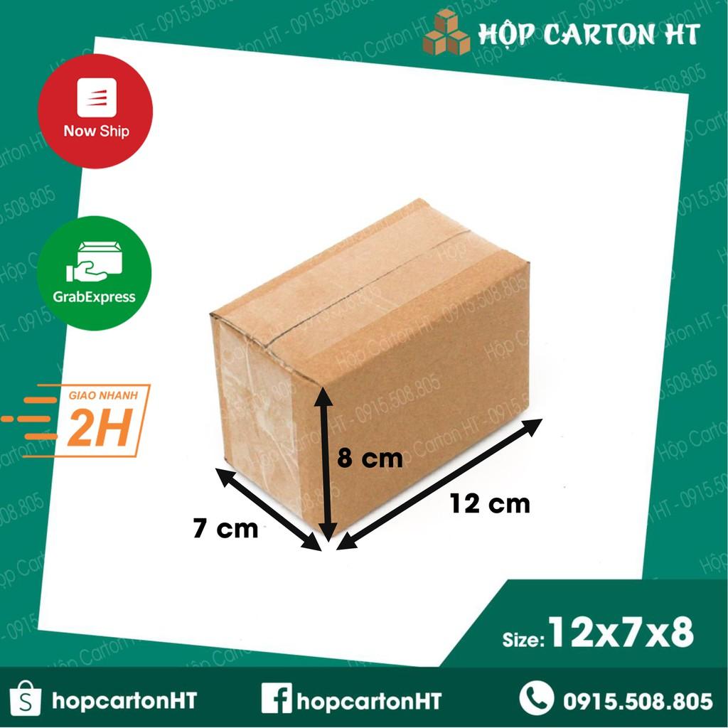 12x7x8 Hộp Carton, thùng giấy cod gói hàng, hộp bìa carton đóng hàng g