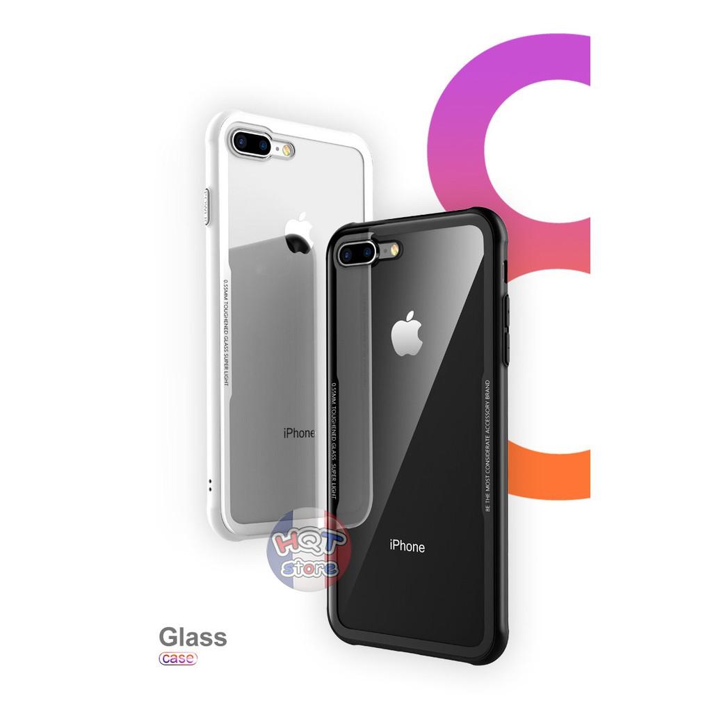 Ốp lưng kính 9H Likgus cho Iphone 7 Plus / 8 Plus / 8 / 7 / 6S Plus / 6 Plus / 6S / 6 Chính Hãng