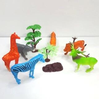 Bộ đồ chơi thú rừng núi cỡ lớn cho trẻ em