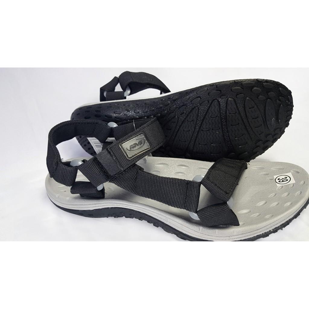 Giày Sandal Nam Nữ Màu Đen Xám